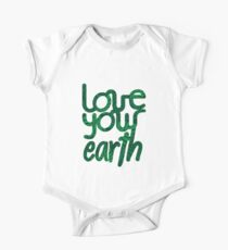 Love your Earth II Short Sleeve Baby One-Piece