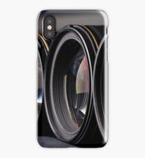 Row of photo lenses iPhone Case/Skin