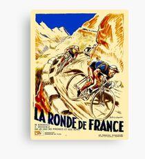 THE TOUR DE FRANCE; Vintage Bike Racing  Canvas Print