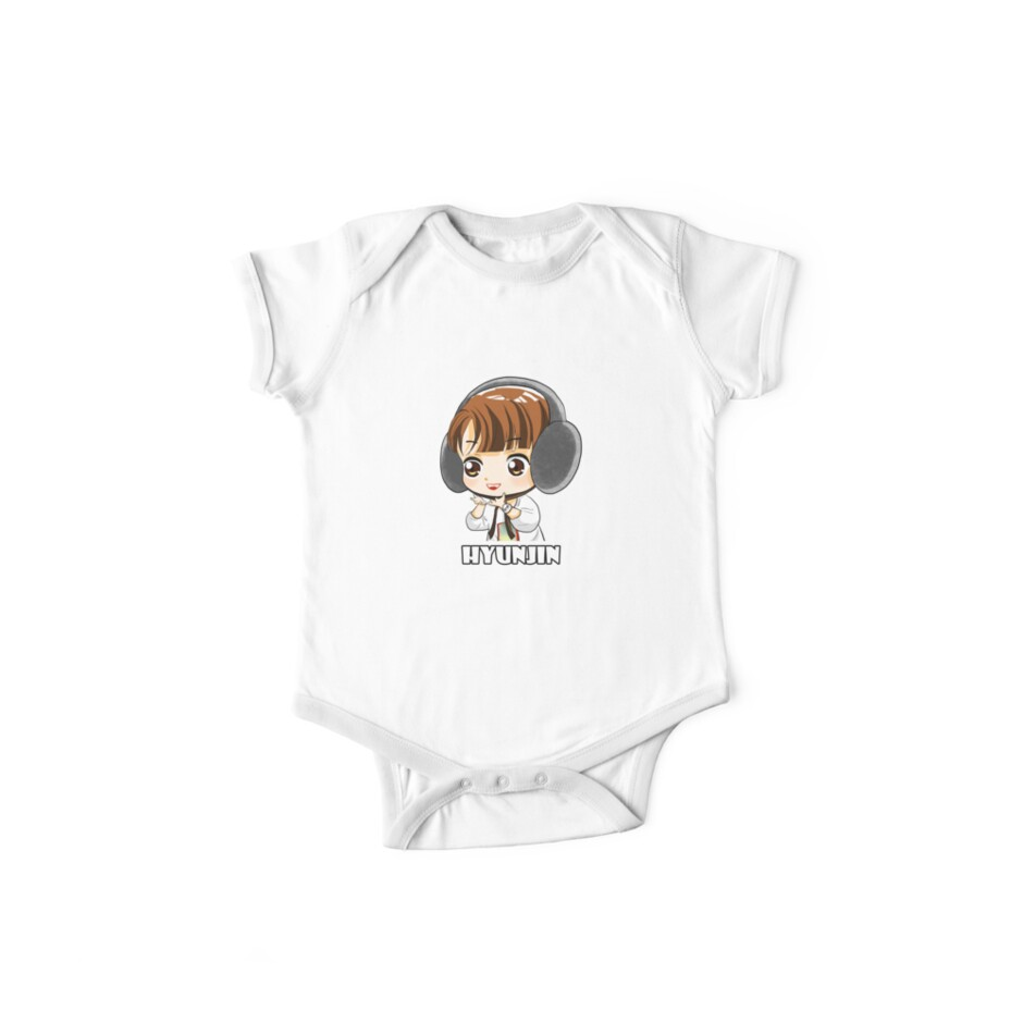 'KPOP STRAY KIDS HYUNJIN CHIBI' Kids Clothes by LySaVN