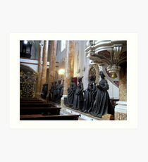 The Hofkirche (Imperial Church) Innsbruck, Tyrol - ancestors statues Art Print