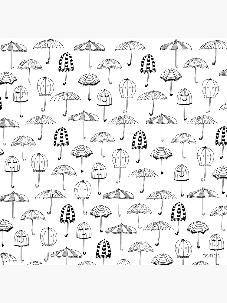 graphic regarding Umbrella Pattern Printable identify Delighted Umbrellas Behavior Metallic Print