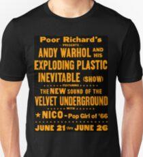 Promotional poster for the Exploding Plastic Inevitable in Chicago, June 21–26, 1966 Unisex T-Shirt