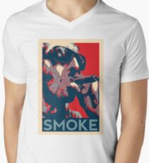 Smoke - Guy with cigar obama style poster graphic Men's V-Neck T-Shirt