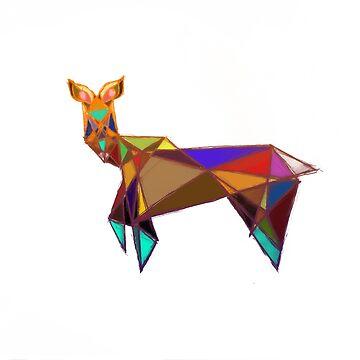 Prism Deer by EmilyPaints
