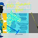 polo postcard turquoise von Rhea Silvia Will