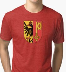 Coat of Arms of Geneva Canton Tri-blend T-Shirt