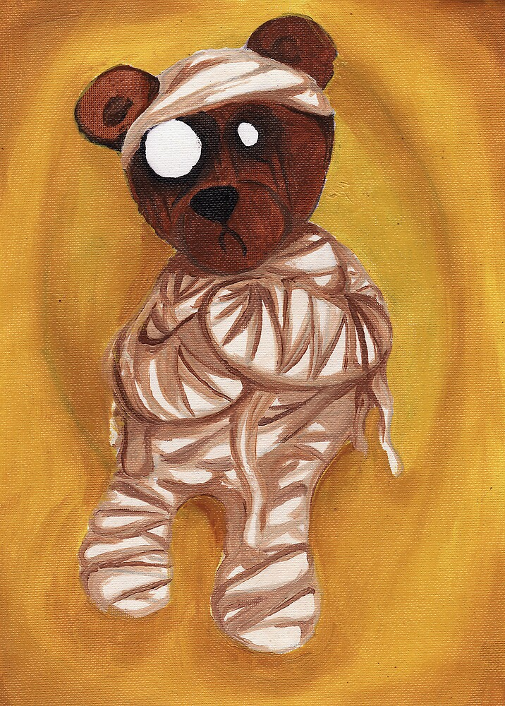 Zom-Bear-Tep - oil on canvas by chriszenga