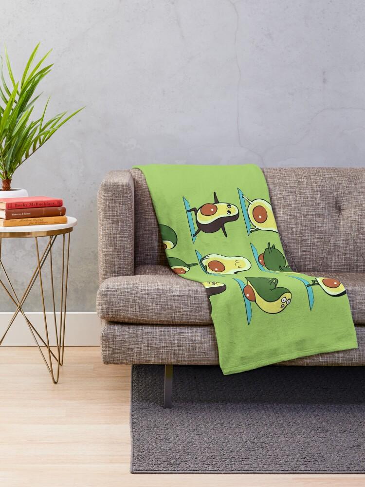 Alternate view of Avocado Yoga Throw Blanket
