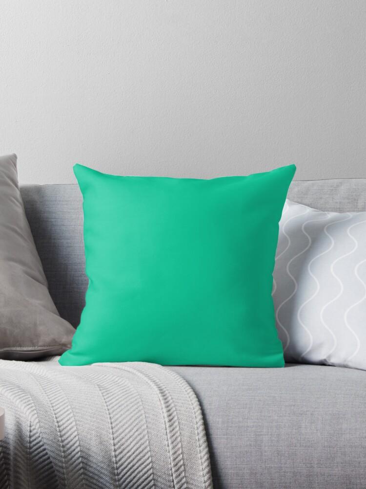 Beautiful Cushions/ Plain Caribbean green by ozcushions