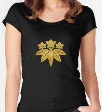 Kamakura Minamoto Mon Japanese clan in faux gold Women's Fitted Scoop T-Shirt