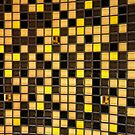 Yellow and Brown Checkered Pattern by quackersnaps