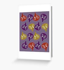 Design exotic Figs on purple Greeting Card