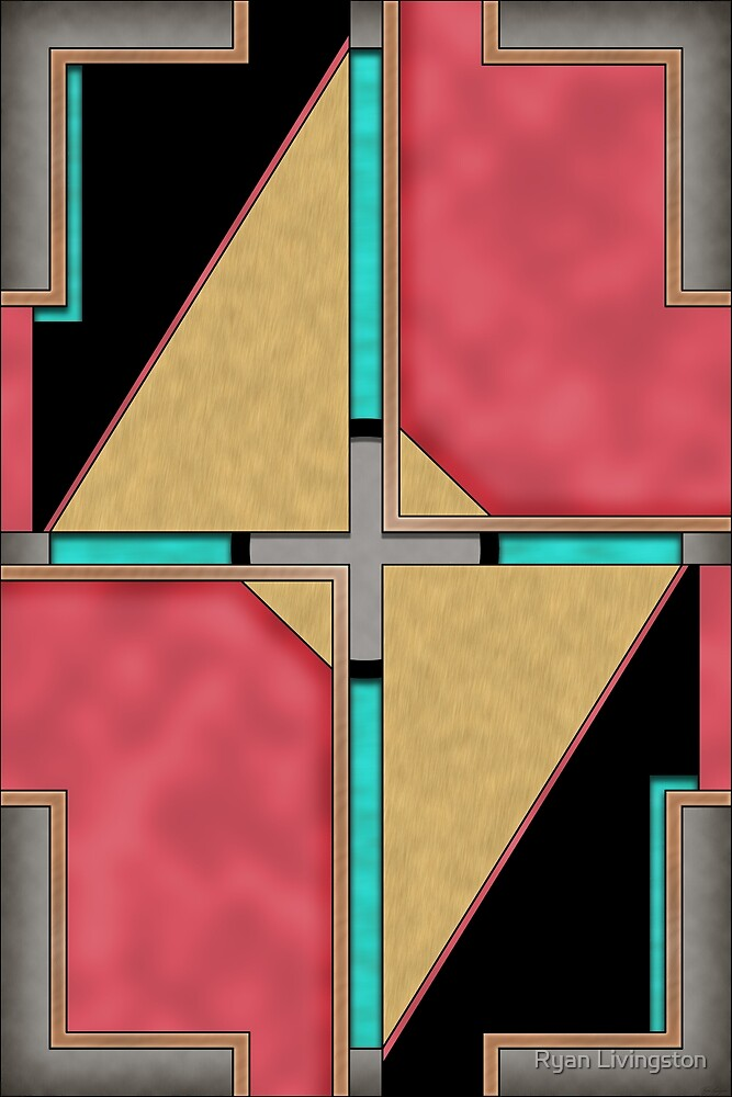 Quad - Geometric Abstract Design by Ryan Livingston