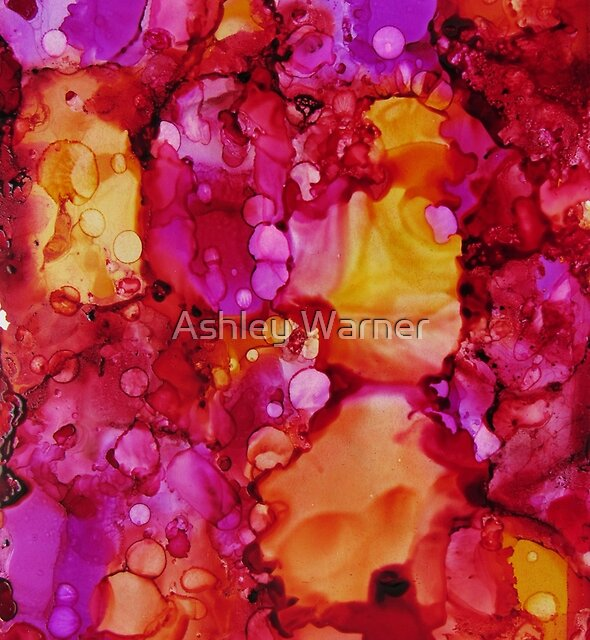 Sunrise Explosion Alcohol Inks by Ashley Warner