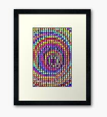 Rainbow Pixels Framed Print