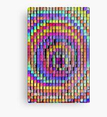 Rainbow Pixels Metal Print