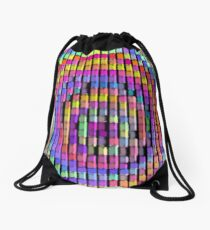 Rainbow Pixels Drawstring Bag