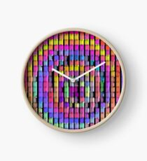 Rainbow Pixels Clock