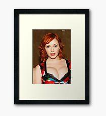 Christina Hendricks - Celebrity Art Framed Print