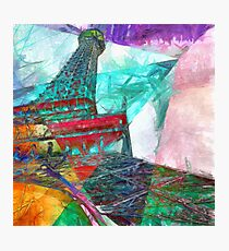 Eiffel Tower Abstract Photographic Print