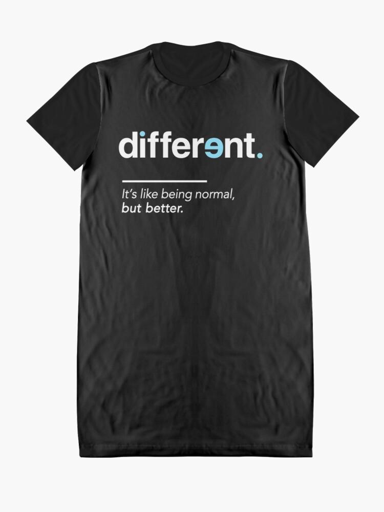 Alternative Ansicht von Seien Sie unterschiedliches Hemd für Autismus-Bewusstseins-Monat T-Shirt Kleid