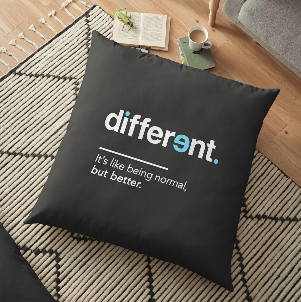 Seien Sie unterschiedliches Hemd für Autismus-Bewusstseins-Monat Bodenkissen