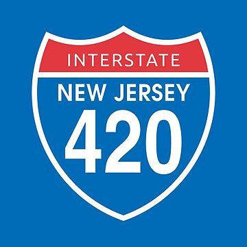 New Jersey 420 Day US Interstate Highway Sign by sumwoman