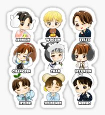 KPOP STRAY KIDS CHIBI ALL MEMBERS Sticker