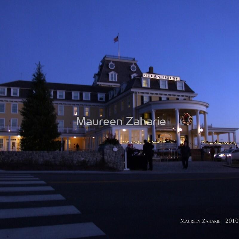"""Ocean House At Night, Watch Hill, RHode Island"" Throw"