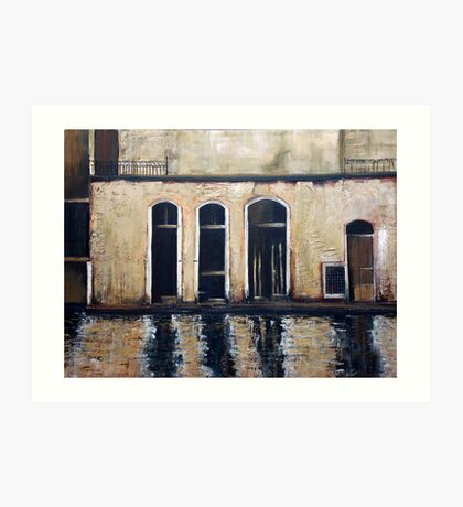 Venice - reflections Art Print