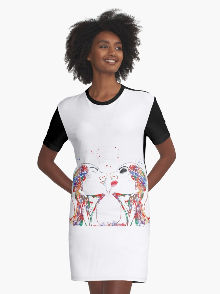 Vestidos camiseta «Arte del amor, mujer y hombre, anatomía de la ...