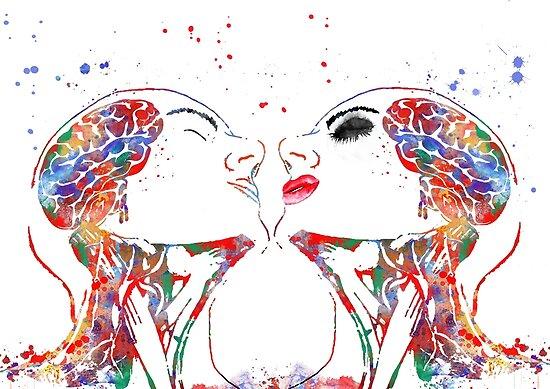 Pósters «Arte del amor, mujer y hombre, anatomía de la cara ...