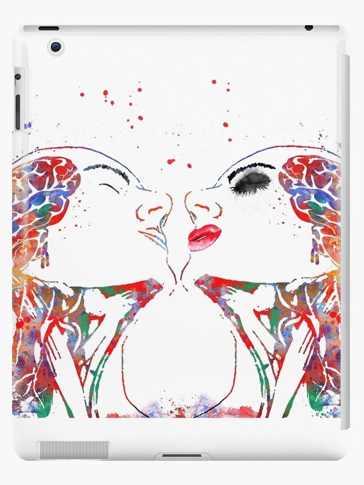 Love Art Woman And Man Face Anatomy Brain Anatomy Medical Art