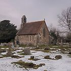 Seasalter Old Church In Winter by Dave Godden