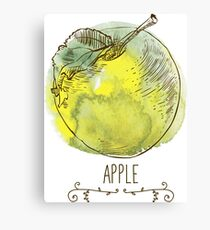 fresh useful eco-friendly apple Canvas Print