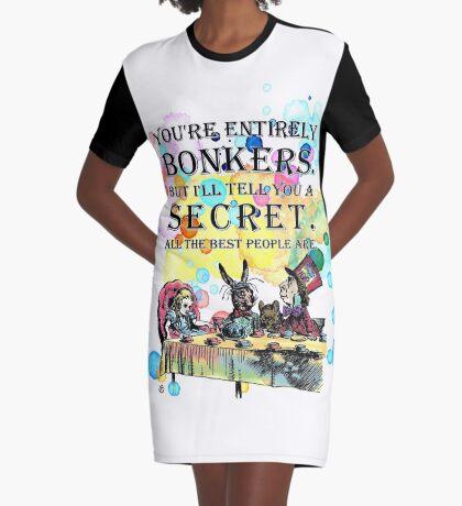 Tea Party - Cita de Bonkers - Alicia en el país de las maravillas Vestido camiseta