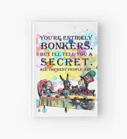 Tea Party - Cita de Bonkers - Alicia en el país de las maravillas Cuaderno de tapa dura