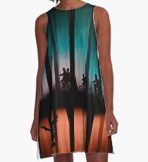 Fremde Dinge A-Linien Kleid