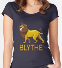 Blythe Lion Drawstring Bags Women's Fitted Scoop T-Shirt
