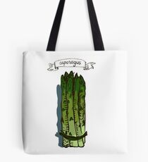 watercolor hand drawn vintage illustration of asparagus Tote Bag
