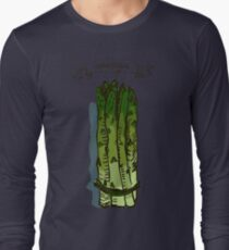 watercolor hand drawn vintage illustration of asparagus Long Sleeve T-Shirt