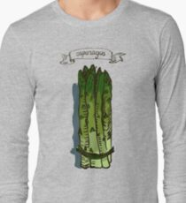 watercolor hand drawn vintage illustration of asparagus Long Sleeve T-Shirt