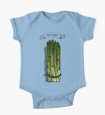 watercolor hand drawn vintage illustration of asparagus One Piece - Short Sleeve
