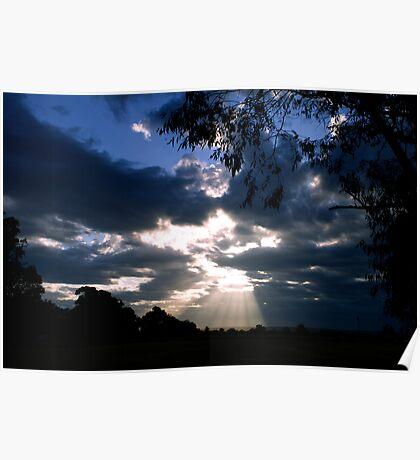 Sunburst at sunrise Poster