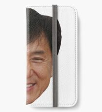 Jackie Chan and his beautiful face  iPhone Wallet/Case/Skin