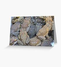 Toad bucket. Greeting Card