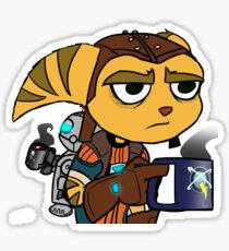 Ratchet and Clank Coffee Sticker