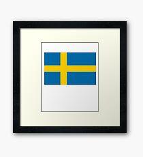 Sweden Flag / Swedish Flag  Framed Print
