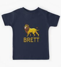 Brett Lion Drawstring Bags Kids Tee